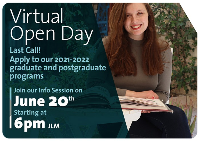 Virtual Open Day for Graduate and Post Graduate students