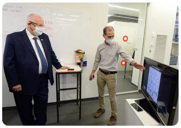 The president Reuven (Ruvi) Rivlin visits ELCS